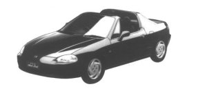 Honda CR-X Delsol SiR 1995 г.