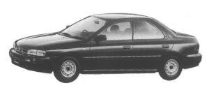 Subaru Impreza 4 door HardTop Sedan 1.6L 4WD CF 1995 г.