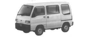 Subaru Sambar VAN STANDARD ROOF STD 1995 г.