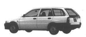 Mitsubishi Libero CARGO E 4WD 2000 DIESEL TURBO 1995 г.