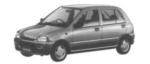 Subaru Vivio 5 door Sedan es 1995 г.