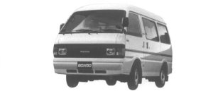 Mazda Bongo VAN WIDE LOW HIGH ROOF 2.2D 5DOORS LG 1995 г.