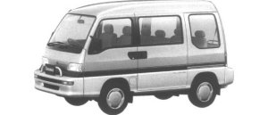 Subaru Domingo 4WD GV 1995 г.
