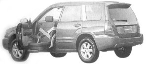 Subaru Forester Trans Care Wing Seat Lift Type 2002 г.
