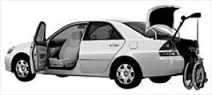 Toyota Mark II Welcab Automatic Pass. Swivel Slide Car 2002 г.