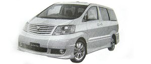 Toyota Alphard V MS 7-seaters 2002 г.