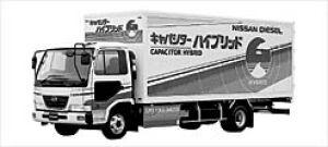 Nissan Diesel Condor Capacitor Hybrid 2002 г.