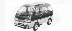 Daihatsu Atrai TURBO-EX 4WD 1991 г.