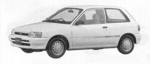 Toyota Starlet SOLEIL L 1991 г.