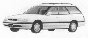 Subaru Legacy 4WD TOURING WAGON 1.8L TI 1991 г.