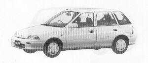 Suzuki Cultus HATCH BACK 5DOOR ELENY 1000 1991 г.