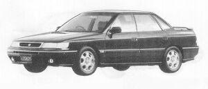 Subaru Legacy 4DOOR SEDAN 2.0L GT 1991 г.
