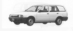 Nissan AD 4DOOR 1300 VE 1991 г.