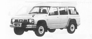 Nissan Safari WAGON  EXTRA HIGH ROOF  AD 4200 DIESEL 1991 г.