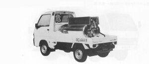 Subaru Sambar KEROSENE TANK LORRY 4WD 1991 г.