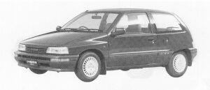 Daihatsu Charade WILL 4WD 1.3 3DOOR 1991 г.