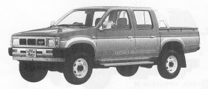 Nissan Datsun 4WD DOUBLE CAB 2700 DIESEL AX 1991 г.