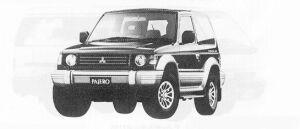 Mitsubishi Pajero METAL TOP WIDE XR-II 1991 г.