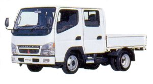 Mitsubishi Fuso CANTER All Low Floor Double Cab, Standard Body Truck 2005 г.