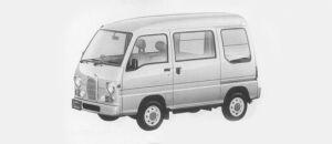 Subaru Sambar VAN HIGH ROOF SDX CLASSIC 1996 г.