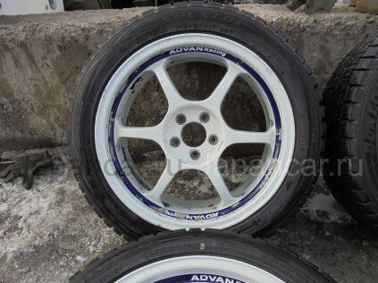 Зимние колеса Dunlop winter Maxx wm01 215/50 17 дюймов Advan ширина 7.5 дюймов вылет 48 мм. б/у в Красноярске