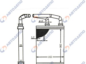 Радиатор отопителя салона toyota, hino, mitsub