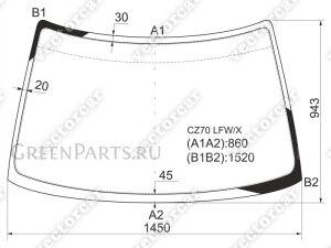 Стекло лобовое на Mitsubishi RVR N11W; N13W; N21W; N23W