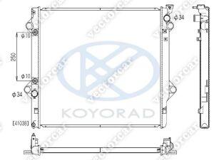 Радиатор основной на <em>Toyota</em> <em>Fj</em> <em>Cruiser</em> GSJ10L;GSJ15L 1GR-FE