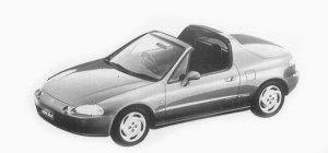 HONDA CR-X 1993 г.