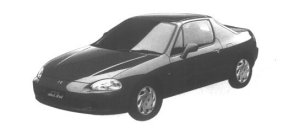 HONDA CR-X 1995 г.