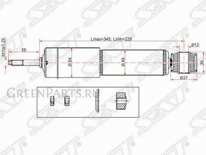Амортизатор на Mitsubishi Montero V26W, V46W, V26WG, V46WG, V24W, V44W, V24WG, V44WG 4M40, 4D56, 6G74, 6G72, 3SFE, 5SFNE, 5SFE, 4M40, 4