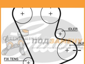 Ремень грм на Hyundai Elantra C53A, C63A, C73A, C83A, C73A, C83A, C73A, C83A, C5 4G61, 4G61, 4G61