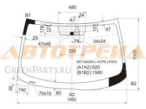 Стекло лобовое на Mitsubishi RVR GA1W, GA2W, GA3W